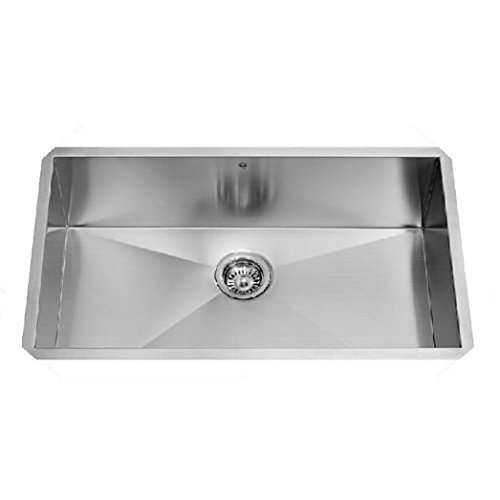 VIGO 32 inch Undermount Single Bowl 16 Gauge Stainless Steel Kitchen Sink (Vigo Stainless Steel Sink compare prices)