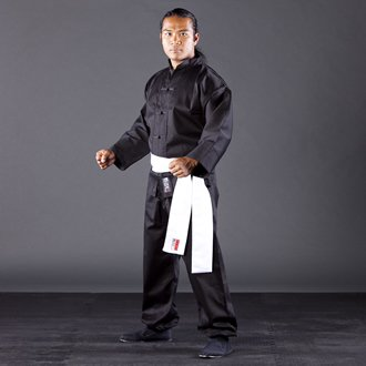 Blitz Sport Adult Kung Fu Suit Black / White 5/180cm