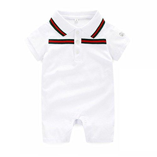 yisumei-baby-unisex-siamese-romper-short-sleeve-lapel-bodysuit-white-6-months
