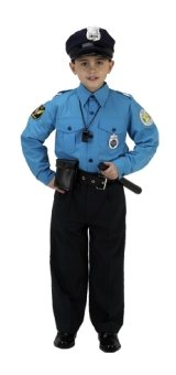 Jr Police Officer Suit Child Costume Ages 4-6 (BPS-46)