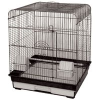 Small Bird Cage with Flat Top - Black - 18 in x 18 in x 22 in