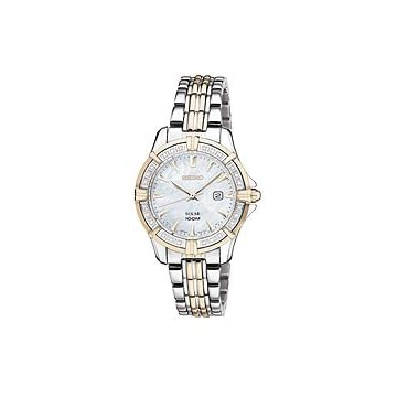 Seiko Solar Two-tone Stainless Steel Women's watch #SUT072