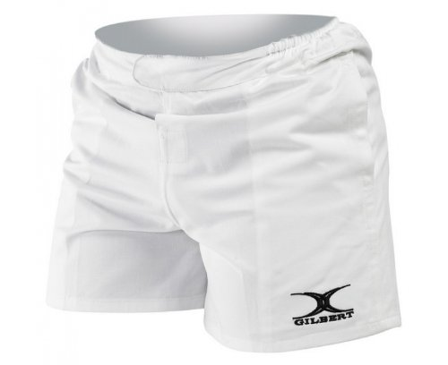GILBERT Men's Boks 7's Short, White, M