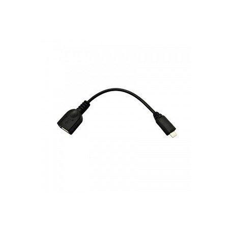 Nano Cable 10.01.3500 - Cable USB (Micro B/M-A/H, 0.15 m, USB OTG), color negro width=