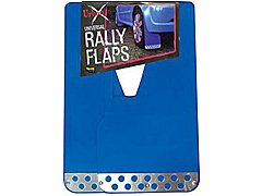 BLUE RALLY STYLE MUDFLAPS WITH CHROME PLATE