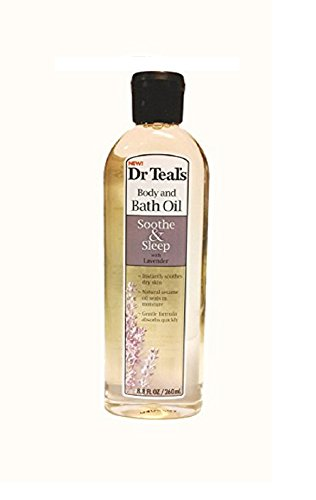 Dr Teals Body & Bath Oil with Lavender, Soothe & Sleep, 8.8 Fl Oz 8.8 Ounce Bath