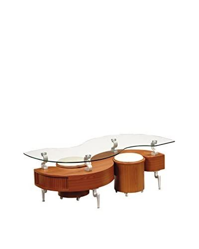 Luxury Home Coffee Table, Cherry/Cappuccino