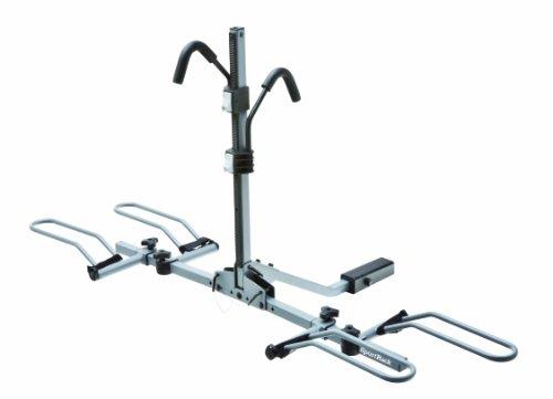 Sportrack Sr2901Lr 2-Bike Lock And Tilt Platform Hitch Rack, Grey front-158165