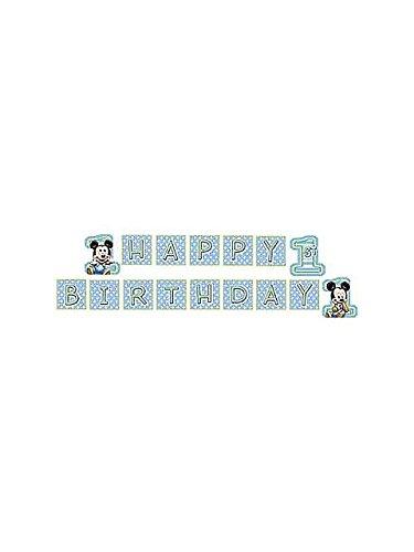 Hallmark Mickey's 1st Birthday Plastic Banner - 1