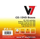 V7 CD Jewel Blank Envelope Case Sleeve for DVD and CD Pack 5 HE Crystal Inlaid with Leaf