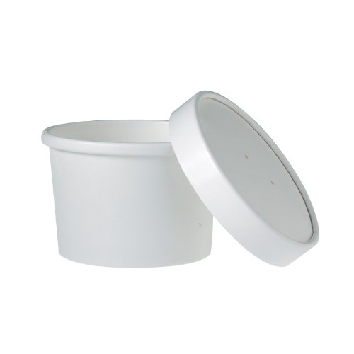 SOLO KHB8A-2050 Double-Sided Polyethylene-Coated Paper Food Container with Lid, 8-oz. Capacity, White (Case of 250) (8 Oz Solo Lids compare prices)