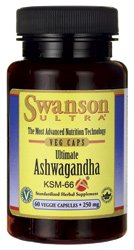 Ultimate Ashwagandha Ksm-66 250 mg 60 Veg Caps