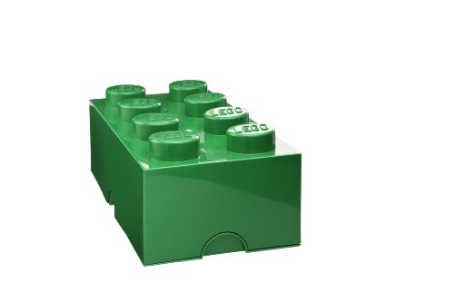 Lego Storage Brick 8, Dark Green front-898713