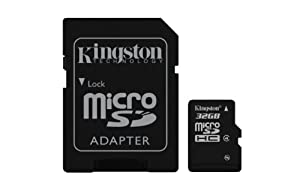 Kingston Digital 32 GB Class 4 microSDHC Flash Card with SD Adapter (SDC4/32GBET)