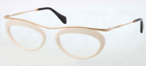 Miu MiuMIU MIU Eyeglasses MU 56MV 7S31O1 Ivory 51MM