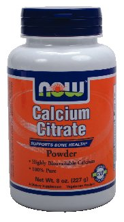 NOW Foods Calcium Citrate 100% Pure, Powder, 8 oz