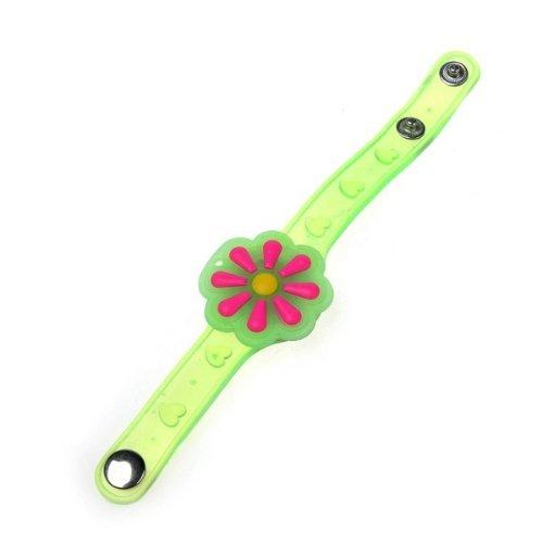 Green Shifting Gear Flower LED Flashing Light Bracelet