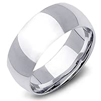 9mm Men's Sterling Silver Wedding Band Ring