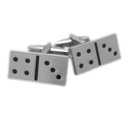 Mens Funky Stylish Fashion Novelty Gambling Theme Domino Cufflinks With Gift Box - A Great Christmas, Birthday, Valentine, Anniversary, Wedding Gift For Husbands, Fathers, Boyfriends, Friends And Work Colleagues