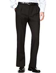 Active Waistband Supercrease® Tailored Fit Trousers with Wool
