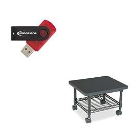 KITIVR37600SAF5206BL - Value Kit - Safco Underdesk Printer/Fax Stand (SAF5206BL) and Innovera USB 2.0 Flash Drive (IVR37600)