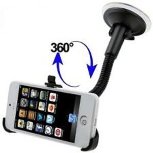 handyman Apple iPhone 5 Car Vehicle Windshield Suction cup mount Rotating Holder for mobile cellular hand phone Apple iPhone 5 + Black/White Stylus