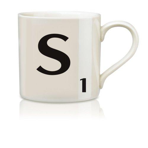 Imagen de Salvaje y Wolf Ltd Scrabble Alfabeto Taza - S * Harsboro taza de café Bebidas SCR019