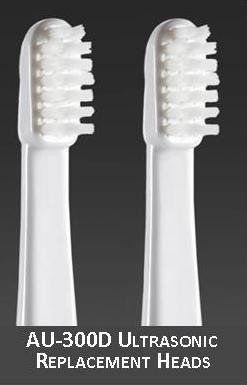 Smilex Ultrasonic Toothbrush Replacement Brush Heads - Medium / 2 Count