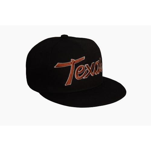 Black Texas Flat Bill Snapback Adjustable Baseball Cap Hat