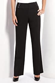 Straight Leg Wide Waistband Military Trousers [T57-5774T-S-LCTB]