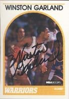 Winston Garland Golden State Warriors 1989 Hoops Autographed Hand Signed Trading... by Hall of Fame Memorabilia