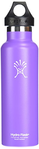 Hydro Flask Insulated Stainless Steel Water Bottle, Standard Mouth, 12-Ounce, Acai Purple front-733618