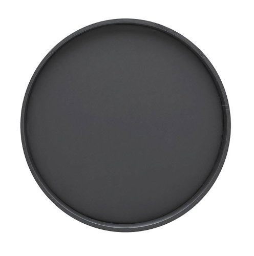 Kraftware Bartenders Choice Fun Colors Collection 14-Inch Round Serving Tray, Black