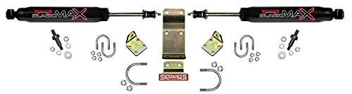 Skyjacker 8203 Dual Steering Stabilizer Kit (Includes Steering Dampers Mounting Brackets for Jeep Wrangler JK - Black) (Jk Stabilizer Bracket compare prices)