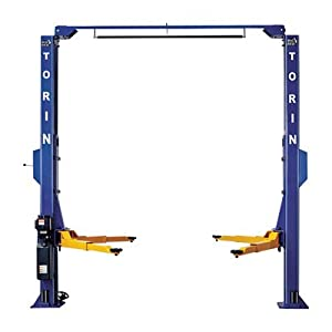 Torin Big Red Symmetrical Two-Post Lift - 10,000-Lb. Capacity, 69in. Max. Rise, Model# T10000-2OH-A
