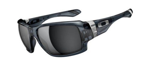 Oakley Big Taco OO9173-02 Iridium Oversized Sunglasses,Crystal Black,One size