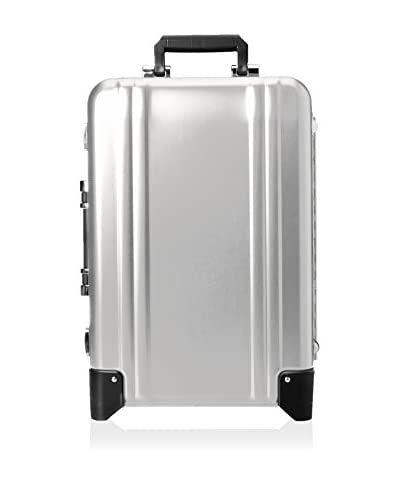 ZERO Halliburton Classic Aluminum Carry On 2-Wheel Travel Case, Silver