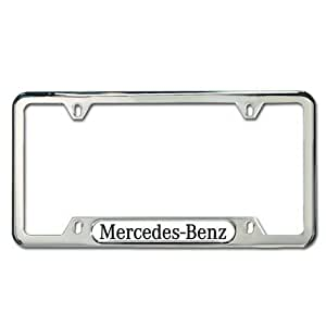 Genuine mercedes benz polished stainless steel license for Mercedes benz accessories amazon