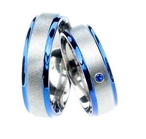 TICO-Titan Blau Partnerringe ERB05ZRF20(Paarpreis)
