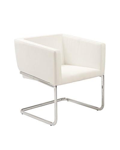 Euro Style Ari Lounge Chair, White