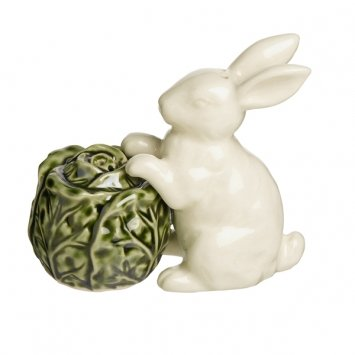 Grasslands Road Bunny with Cabbage Salt & Pepper Shaker Set Magnetic Gift Spring