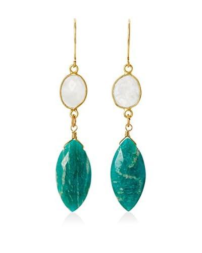 Rachel Reinhardt Amazonite & Moonstone Marquis Earrings