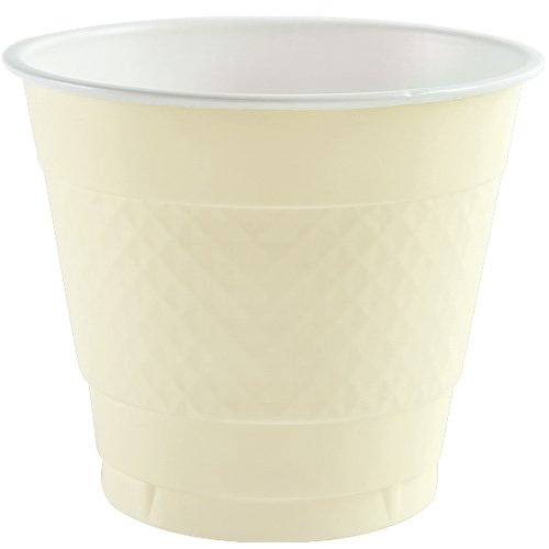 Party Dimensions 85781 18 Count Plastic Cup, 9-Ounce, Ivory - 1