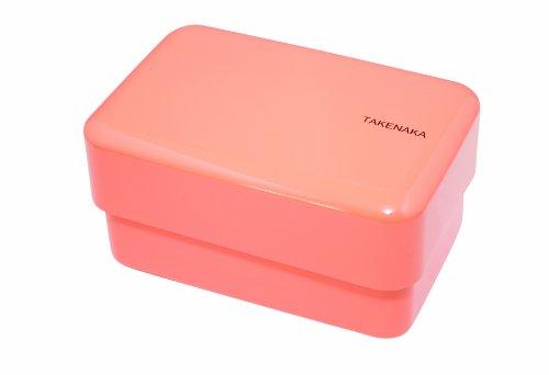 Takenaka Rectangle Bento Box, Coral front-272275