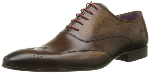 BKR Men's Mok Lace-Up Flats Brown Marron (Desla Cuero) 10 (44 EU)
