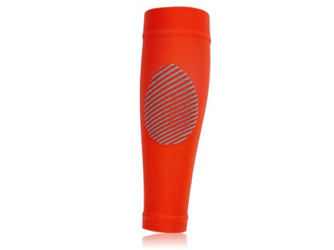 Full Force Compression Stockings without Feet, Unisex, Kompressionsstrümpfe ohne Fuss, Neon Orange