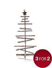 Rustic Wooden Tree Christmas Decoration