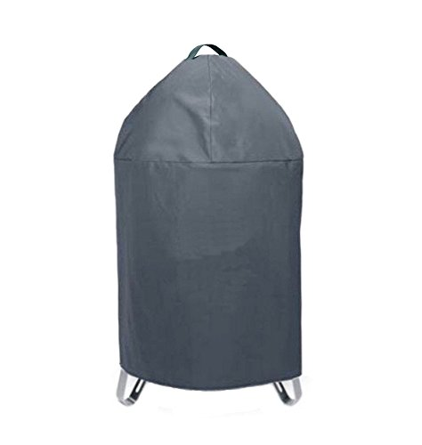 BBQ funland C7201 Round Smoker Cover for Charcoal Smokey Mountain Cooker, Black (Charcoal Smoker Cover compare prices)