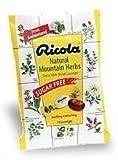 Ricola Mountain Herb Sugar Free 19 s by Ricola Beauty English Manual