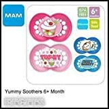 MAM CUTE ORTHODONTIC SOOTHER BOYS TWINPACK 6M+ BPA FREE